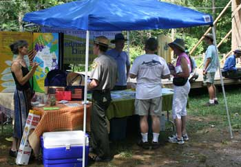 Piedmont booth at the Eno Festival