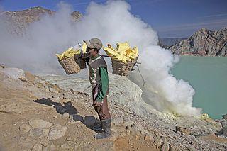 Kawah Ijen Sulphur miner