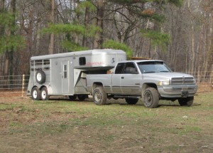 our first horse trailer