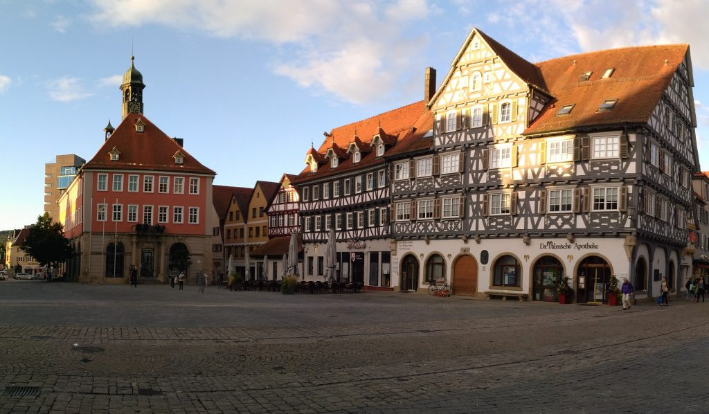 The main square in Schorndorf, near Stuttgart