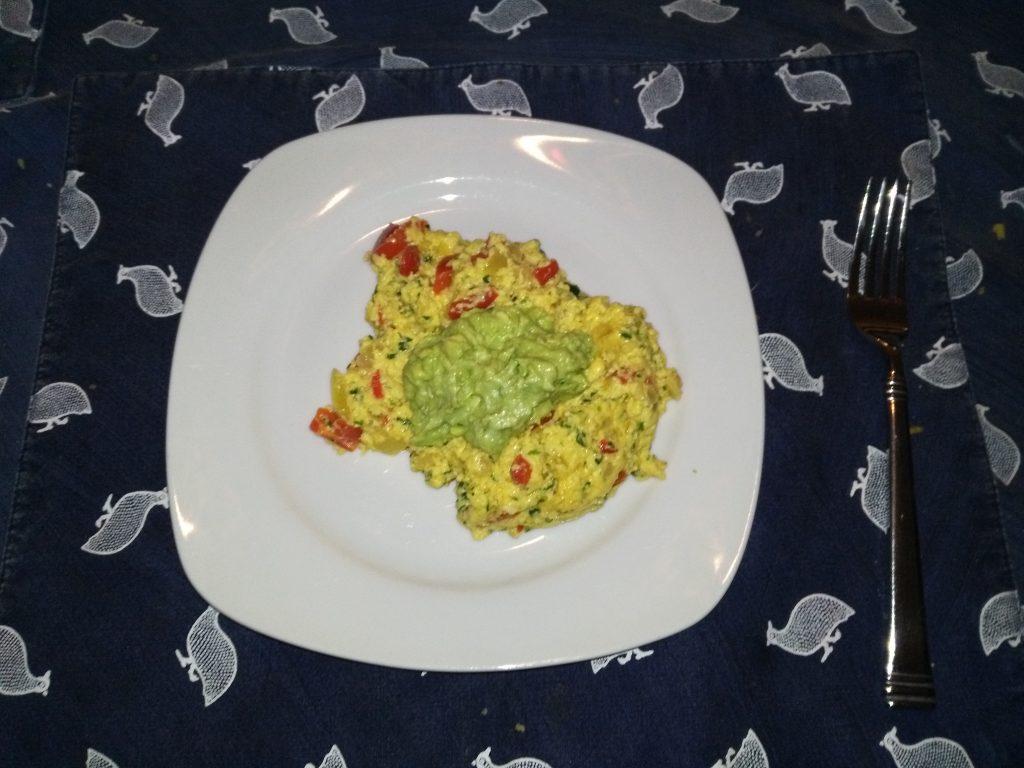 Emu egg omelet