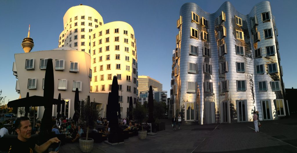 The Gehry buildings at the Zollhof in Düsseldorf