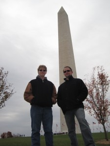 Jacob and I at the Washington Monument
