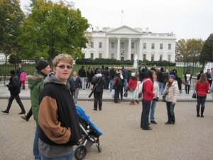Jacob in front of the White House
