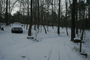 snow in the driveway