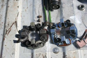 truck starter - old and new brushplates